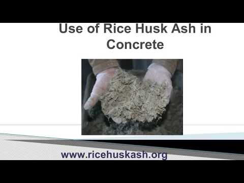Rice Husk ash in concrete