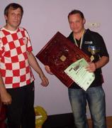 Вручение наград победителю турнира по бэкгэммону
