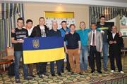 Команда Украины с друзьями из Грузии, Армении и России.