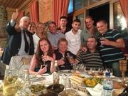 Команда Украины на праздничном ужине
