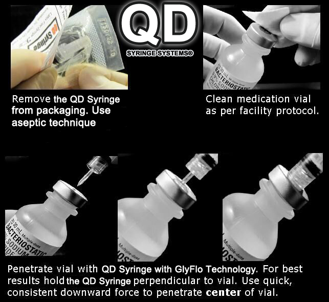 QD Syrigne | Quick Draw Syringe Accessing Vial