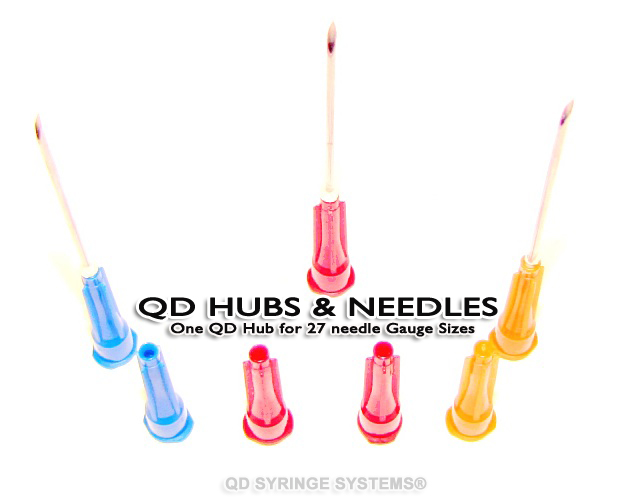 QD Syringe - QD Hubs and Needles