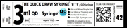 QD Syringe Packaging - 3ml QD Syringe