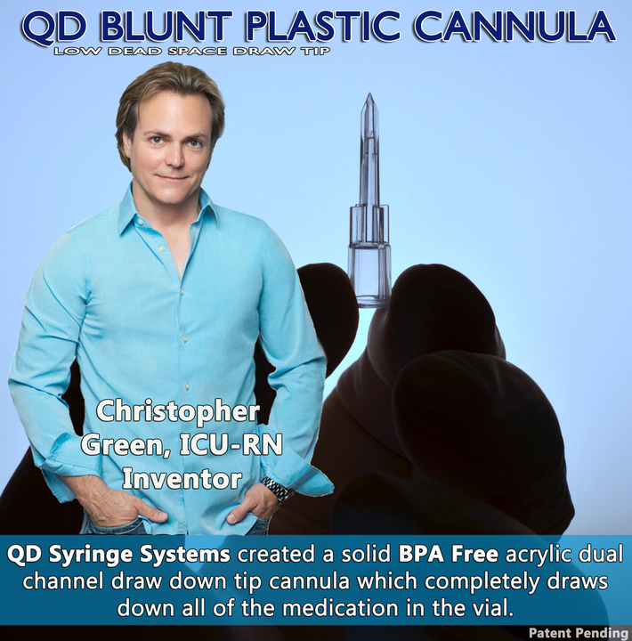 QD Blunt Plastic Cannula with Chris Green Inventor