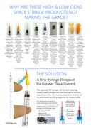 QD Syringe  vs Low Dead Space Syringe Products