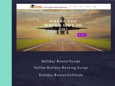 Holiday Rental Software - Online Holiday Booking Script