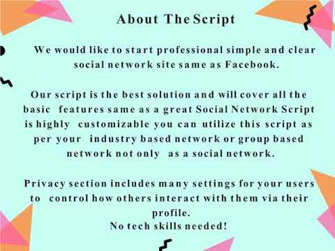 Social Network Script | Open Source Social Network Script