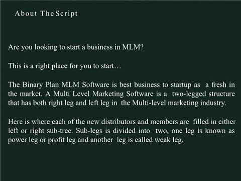 Binary Plan MLM Software | Web based Binary MLM Script
