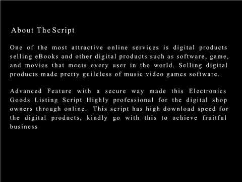 Selling and Buying Marketplace Script | Electronics Goods Listing Script