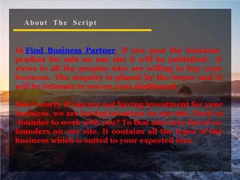 Website for Sale, Find Business Partner, Investor and Co Founder Search Website