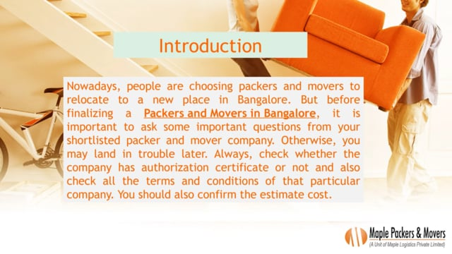 Important Questions you should before hiring Packers and Movers in Bangalore