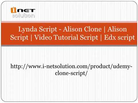 Video Tutorial Script | Edx script
