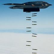 B-2 SPIRIT Stealth Bomber delivering SPIRIT