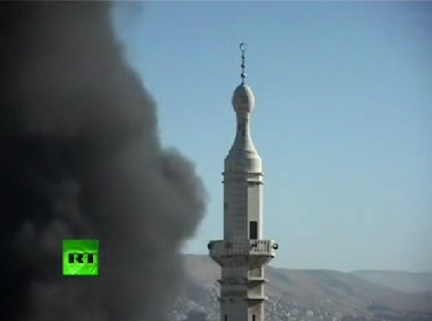 Damascus 'Peaceful Protest' by FSA August 15, 2012