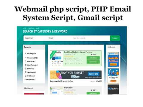 Webmail php script   PHP Email System Script   Gmail script