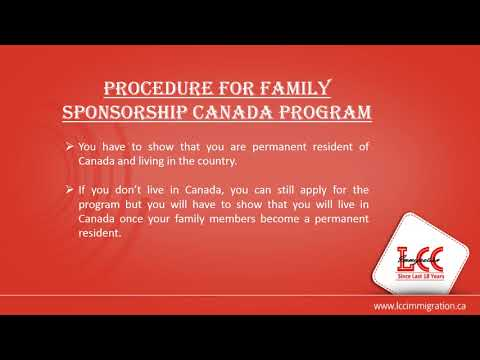 Sponsor your Family under Family Sponsorship Canada Program