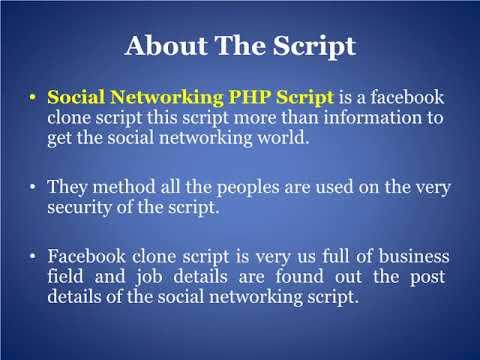 Facebook Script   PHP Social Network Script   Social Networking PHP Script