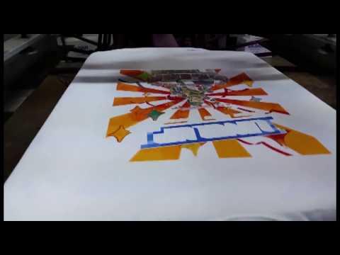 Screen Printing a Four Colour Process Design