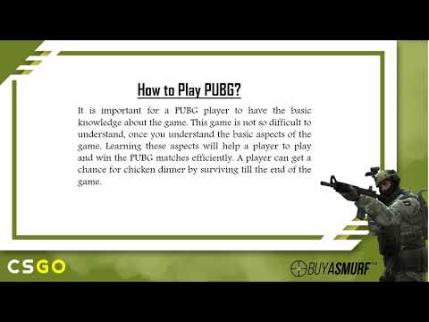Learn to Improve the Gaming Skills in PUBG