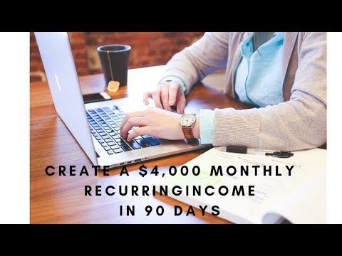 How To Create A $4,000 Monthly Recurring Income...In 90 Days