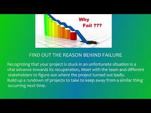 WAY TO OVERCOME A PROJECT FAILURE