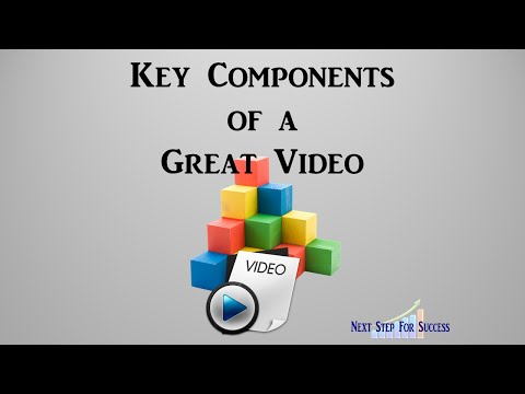 Key Components Of A Great Video! What Are The Five Key Components of a Great Video?