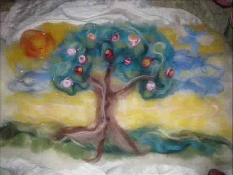 Make a wet wool painting with Dr. Aurore's Kids!