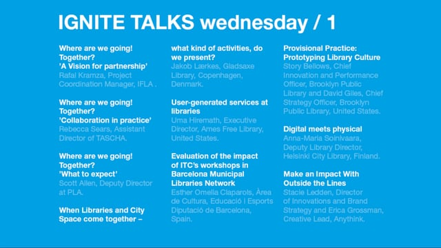 Wednesday Morning Ignite Talks /Next 2017