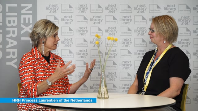Next Library 2017 - Interview with keynote speaker Princess Laurentien of the Netherlands