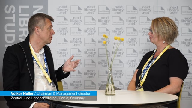 Next Library 2017 - Interview with Volker Heller about Next Library® Berlin Satellite in 2018