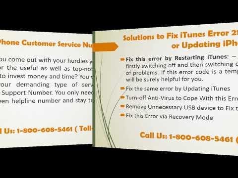 800-608-5461 How to Fix iTunes Error 21 When Restoring or Updating iPhone?