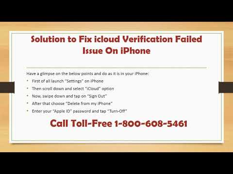 1-800-608-5461 How to Fix iCloud Verification Failed issue on iPhone