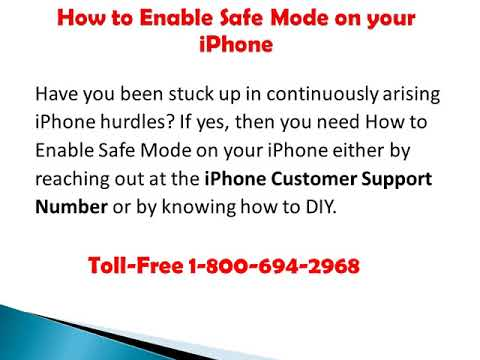 Toll Free 1 800 694 2968 How to Enable Safe Mode on your iPhone