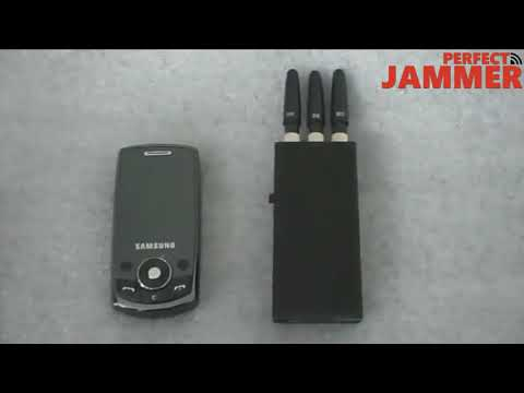 GSM Portable Cell phone signal jammer test