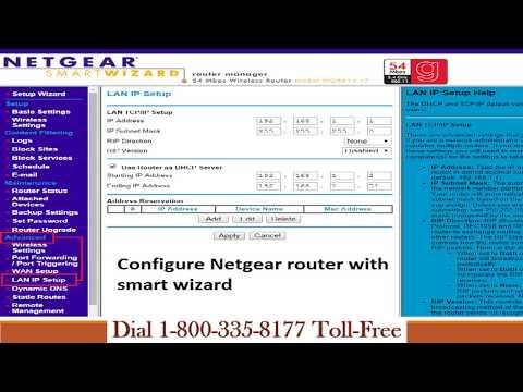 Configure Netgear Router with Smart Wizard   1-800-335-8177