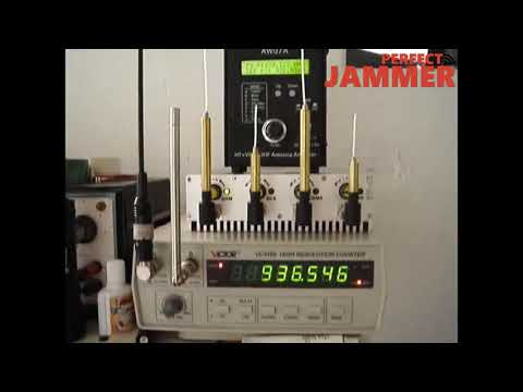 WiFi signal jammer device functional test