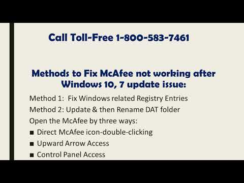 18005837461 | Fix McAfee not working after Windows 10, 7 update issue