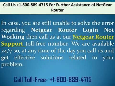 Fix Netgaur router login not working call +1-800-889-4715