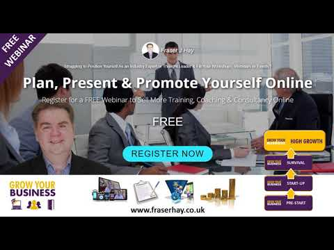 Free Webinar to Help You Sell More Coaching, Training & Consultancy