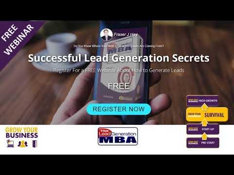 FREE Webinar - Successful Lead Generation Secrets