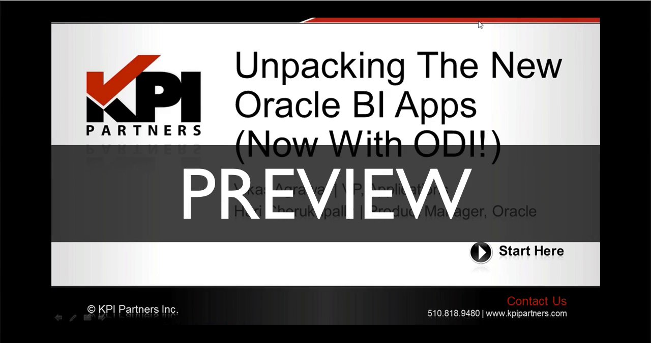PREVIEW [Unpacking The New Oracle BI Apps (Now With ODI!)]