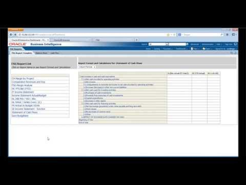 PT 3: Demo - FSG Reporting For Financial Analytics [Migrating FSG Reports To Oracle BI Applications]