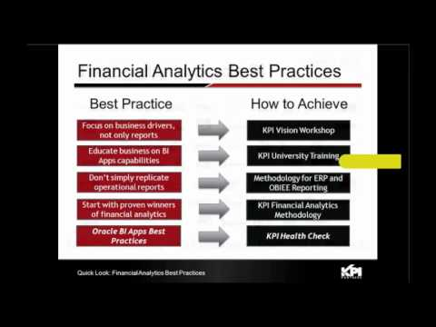 Webinar: Oracle Financial Analytics Case Study featuring McDonalds - Part 2 - KPI Partners