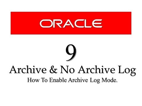 Oracle Database11g tutorials 9 || What is archive log mode and how to enable archive log mode