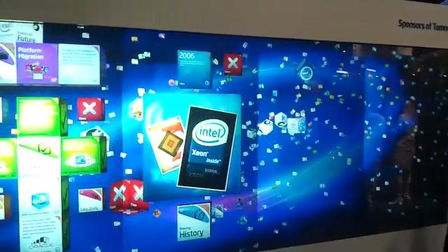 Intel Multi Touch Wall @ Oracle OpenWorld
