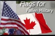 Flags For Fallen Military
