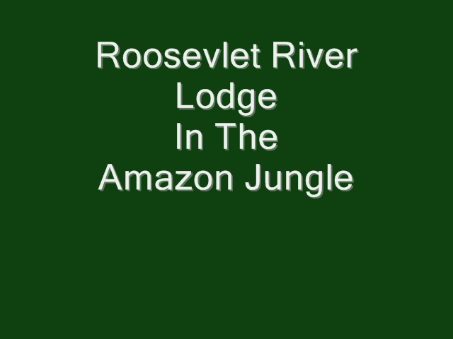 Roosevelt River Lodge in the Amazon