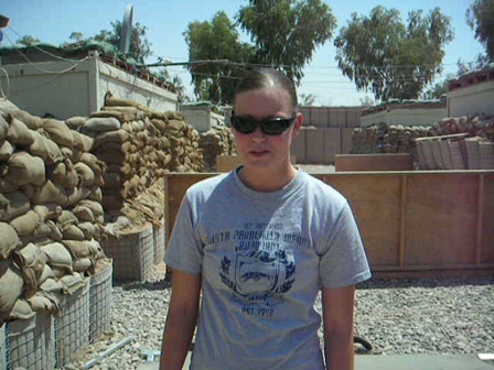 Rachael in Iraq talking about the heat and being a Combat Medic