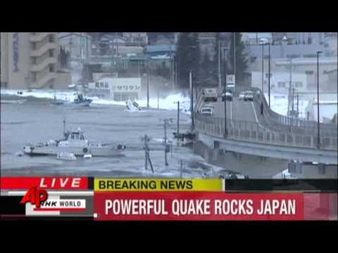 Raw Video: Earthquake Triggers Tsunami in Japan