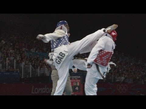 Anthony Obame-Taekwondo- Gold Medal Final - Gabon v Italy - London 2012 Olympics